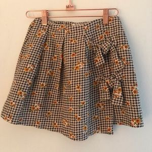 Zara Girls Casual Collection Houndstooth Skirt
